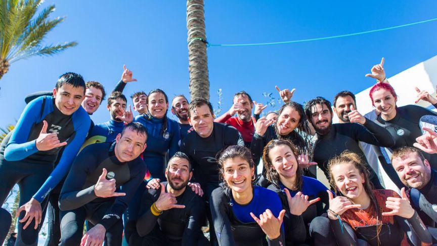 ¡Gracias por un gran día de surf training!