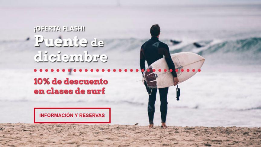 ¡Ven a surfear con descuento por el puente de diciembre!